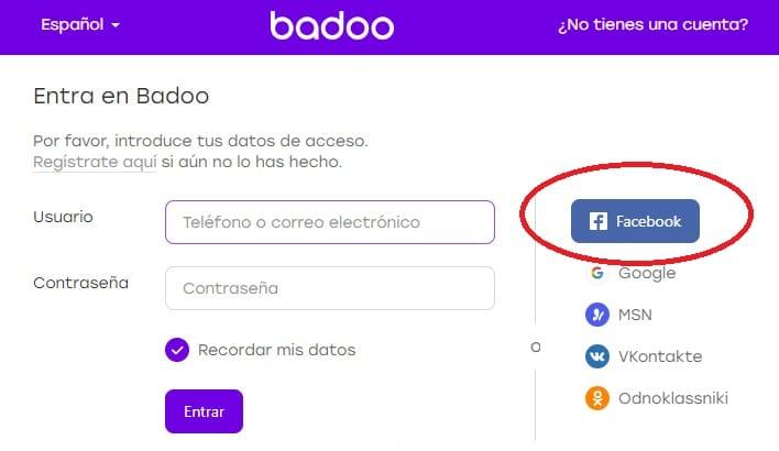 buscar personas con facebook y badoo
